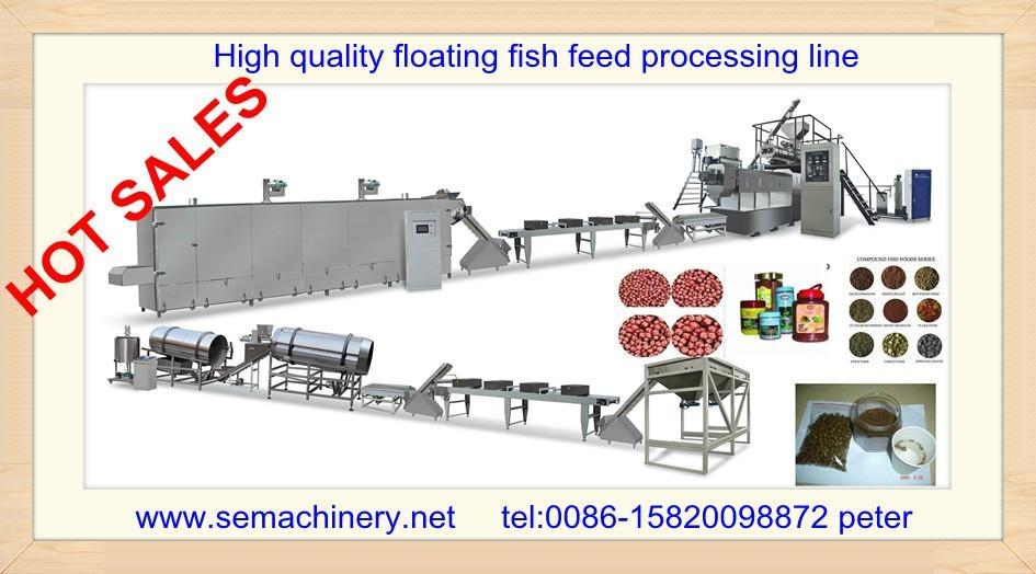 Floating fish food making machine 5