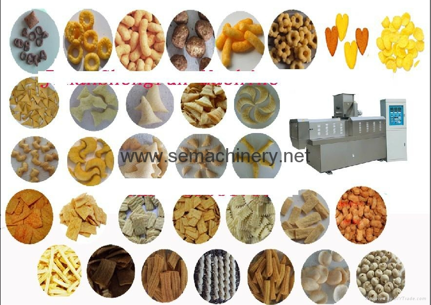 snacks food extruder machine/Puffing food extruder/corn snacks
