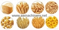 automatic fried snack pellet machine