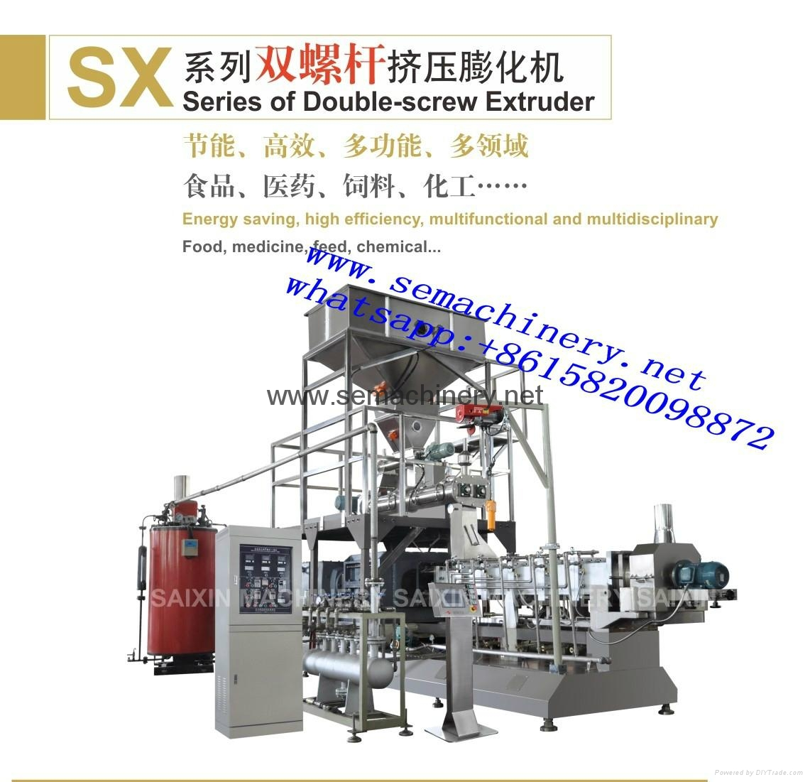Pregelatinized modified starch extrusion machine 3