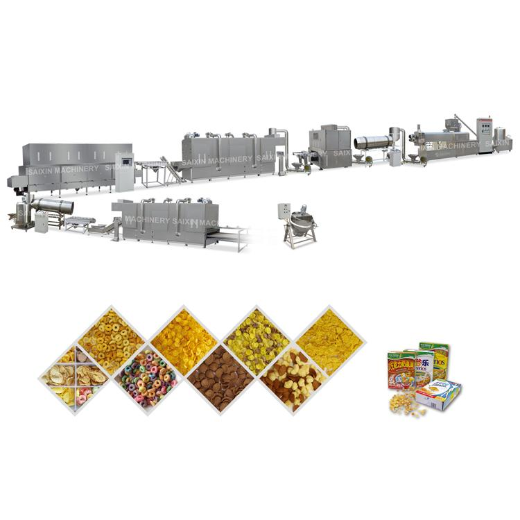 corn flakes machine breakfast cereals puff snacks processing line 1