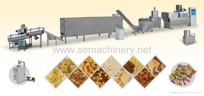 麦烧夹心米果麦香鸡块休闲食品生产线 1