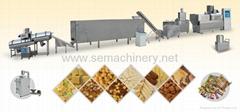 麦烧夹心米果麦香鸡块休闲食品生产线