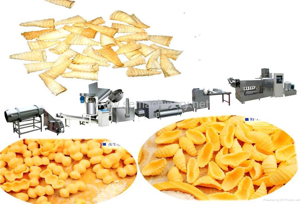螺旋薯片虾片贝壳圆管刺螺生产线 1