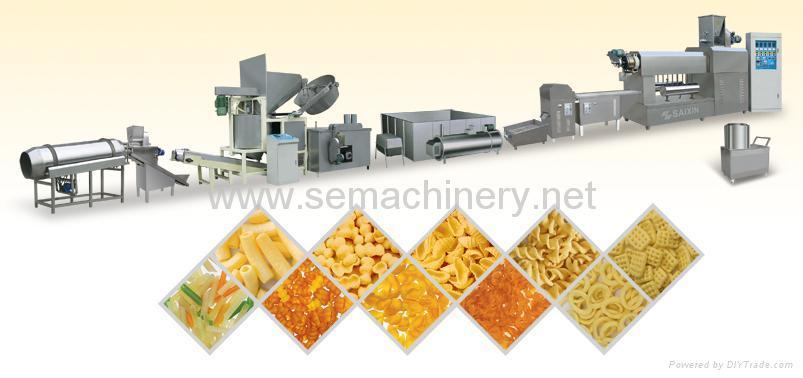 螺旋/贝壳/豌豆脆膨化食品生产线 1