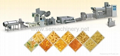 螺旋/贝壳/豌豆脆膨化食品生产线