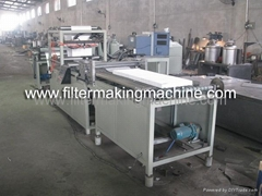 mini pleating machine/HEPA filter machine