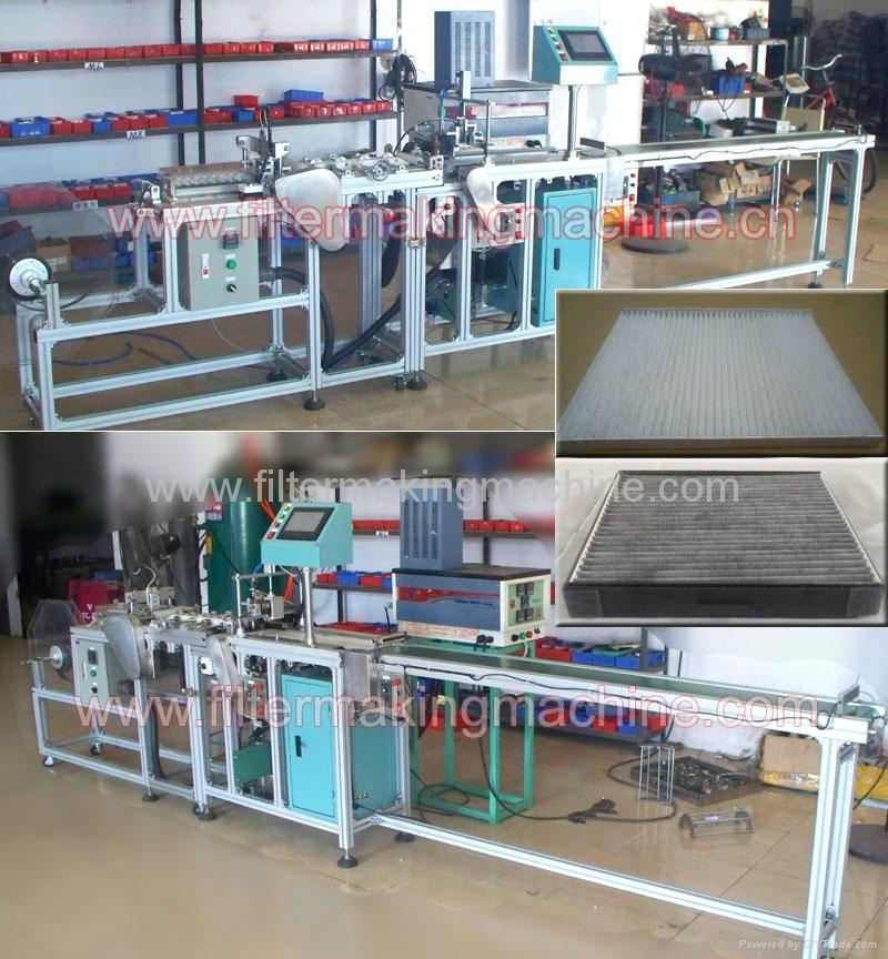 Full auto air condition filter glue machine