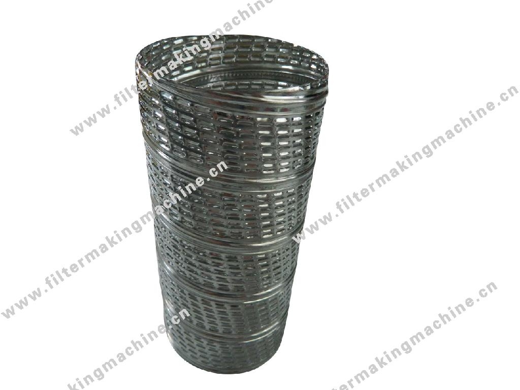 spiral center core tube for filters