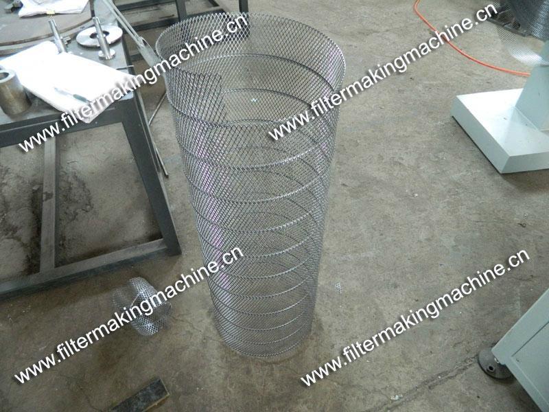 空氣濾芯鋼板(菱形)網卷管機 19