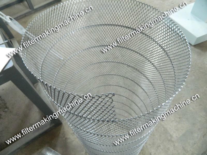 空氣濾芯鋼板(菱形)網卷管機 16