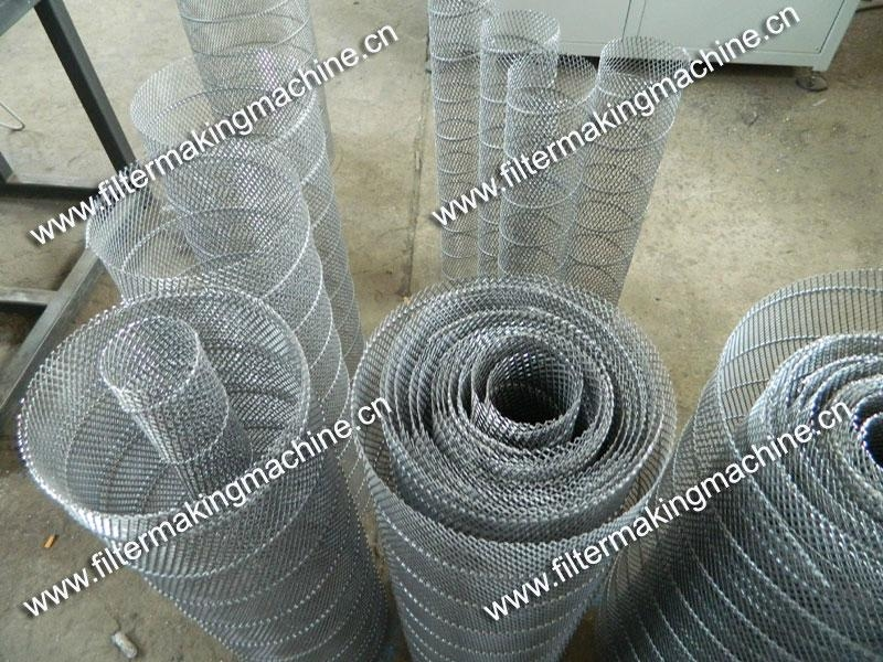 空氣濾芯鋼板(菱形)網卷管機 15