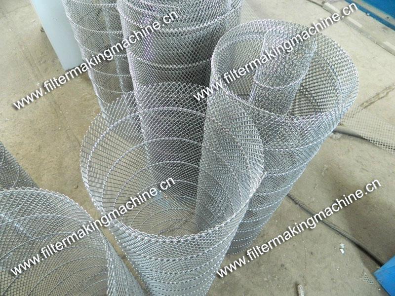空氣濾芯鋼板(菱形)網卷管機 9