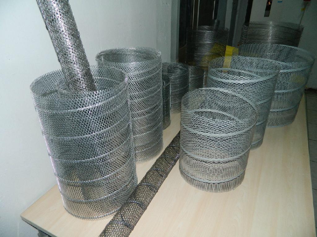 空氣濾芯鋼板(菱形)網卷管機 7