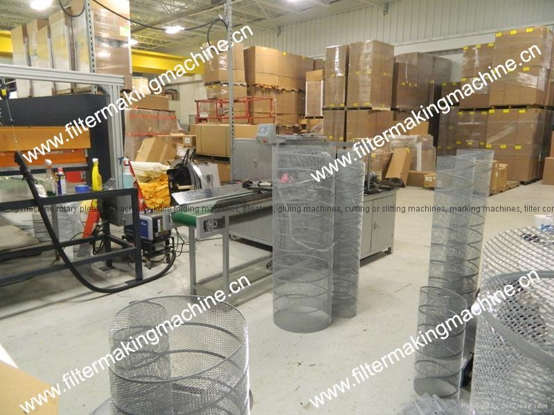expanded mesh spiral core machine sc15 7