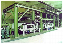 line for producing nonwoven fabric