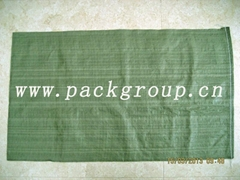 sell green pp woven garbage bags for