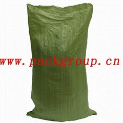 sell recycled green pp woven bags for construction waste