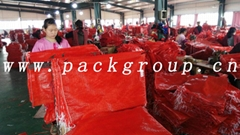 sell China red pp tubular mesh bags for