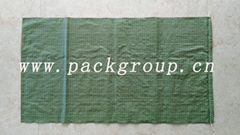 sell green pp woven tras