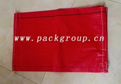 sell red color pp woven potato bags