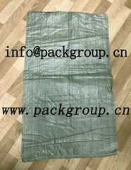 green pp woven garbage bags for building