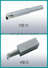 PCD V-shape cutting tool