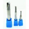 Diamond end mill PCD two flute milling tools for Acrylic aluminum graphite