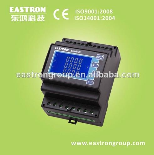 three phase din rail energy meter - SDM630 CT - EASTRON