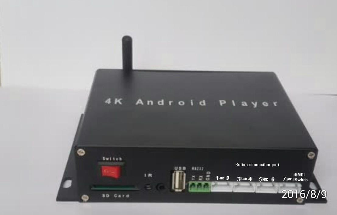4K resolution Android wifi RS232 HD programming player 1