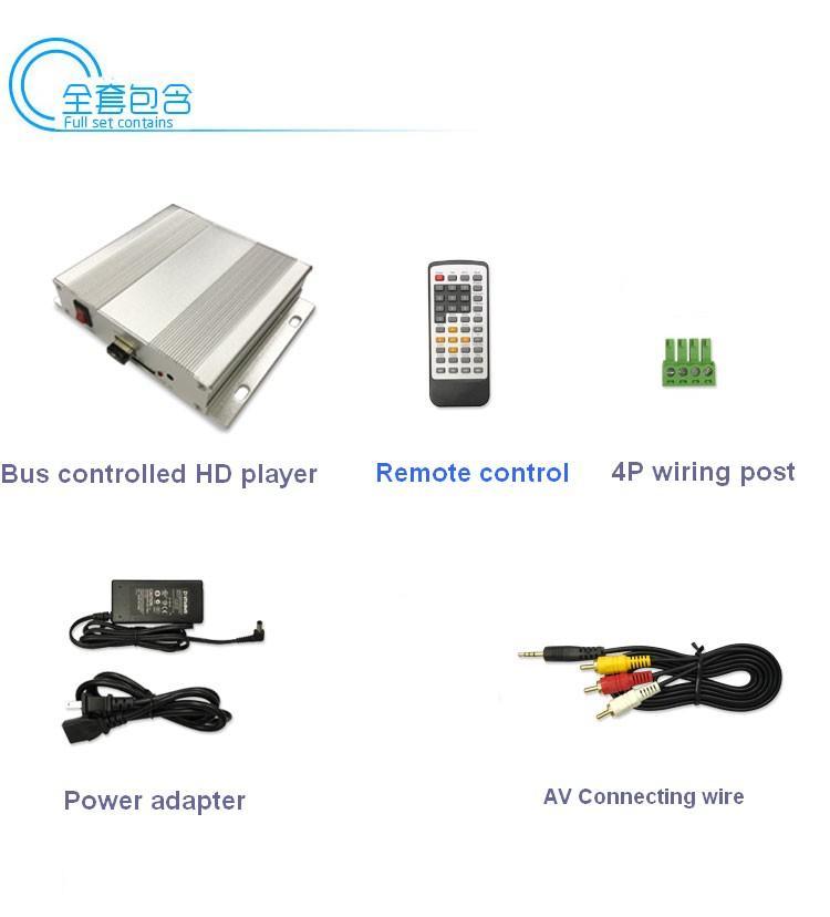 展览视频宣传控制器/按钮RS485命令/宣传文件播放器 7