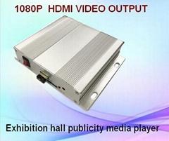 展览视频宣传控制器/按钮RS485命令/宣传文件播放器