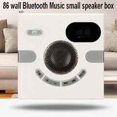 86卧式壁式蓝牙小音箱取代86电源插座盒