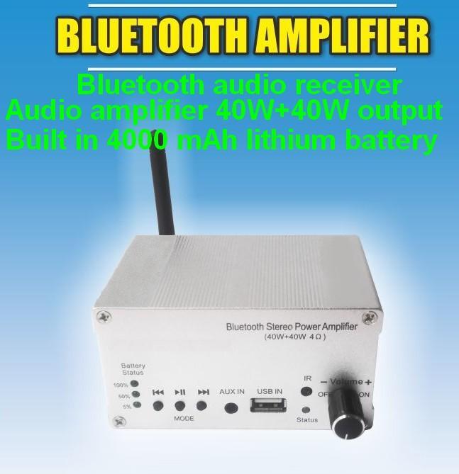 Bluetooth power amplifier 40W+40W output/Built in batte4000mAh/external speakers 1