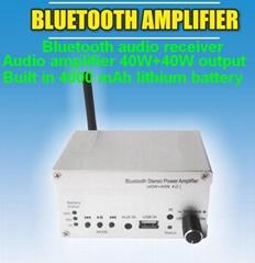 蓝牙音频放大器40W+40W/内置电池/外接扬声器