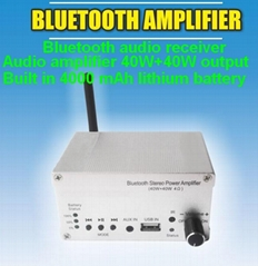 Bluetooth power amplifier 40W+40W output/Built in batte4000mAh/external speakers (Hot Product - 1*)