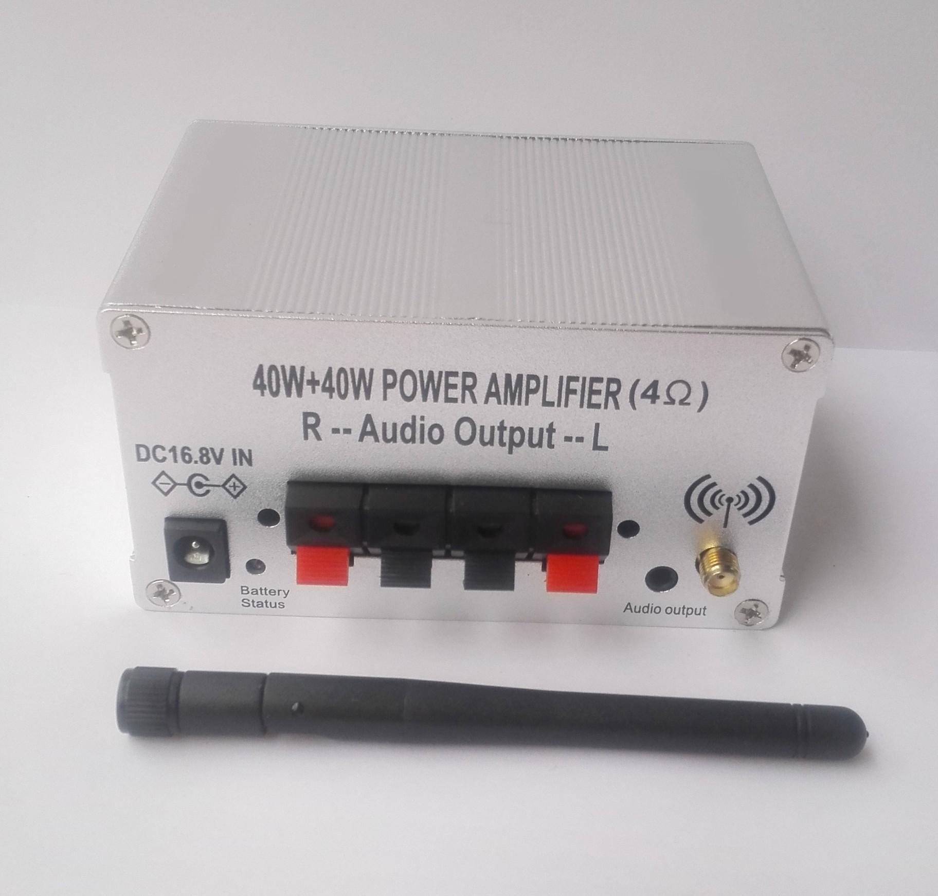 Bluetooth power amplifier 40W and 40W output Built in batte4000mAh external spe 4
