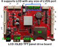 LCD Driving board/Media play /LVDS and Touch panel port HD decoding board 1