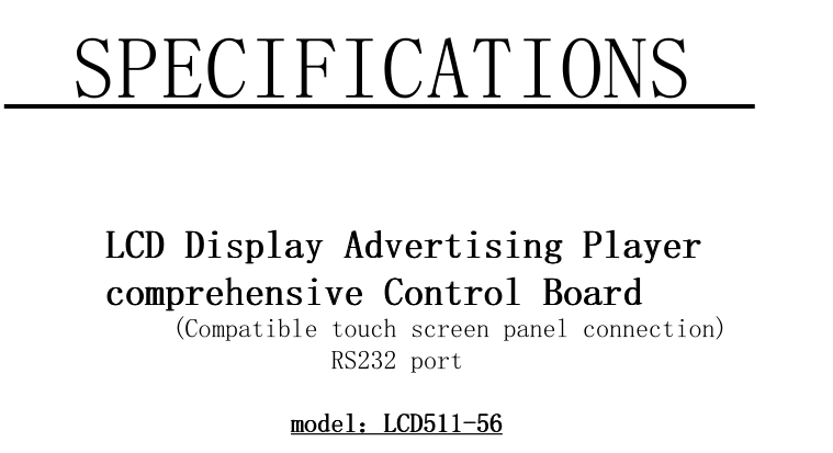 LCD Driving board/Media play /LVDS and Touch panel port HD decoding board 5