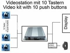 10个按键选择视频播放器固态编程播放器