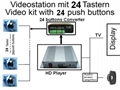 Propaganda video player 24 push buttons Select instruction Video media file play 1