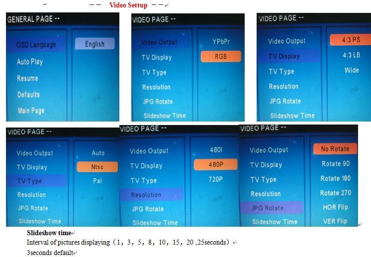 Auto loop media file player 720p media player DC12V to 24V 8
