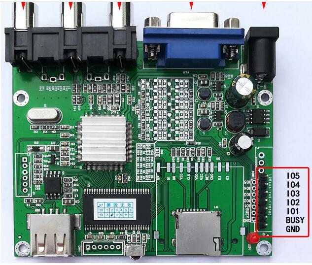 MCU IO control/5 button one to one specified file play Video decoding player