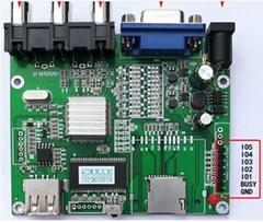 視頻解碼板單片機IO或5按鍵一對一指定播放輸出IO高低電平