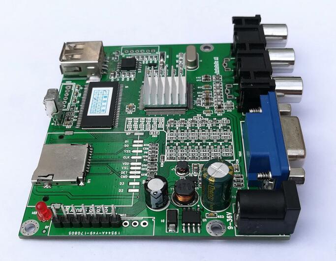 视频解码板单片机IO或5按键一对一指定播放输出IO高低电平 3