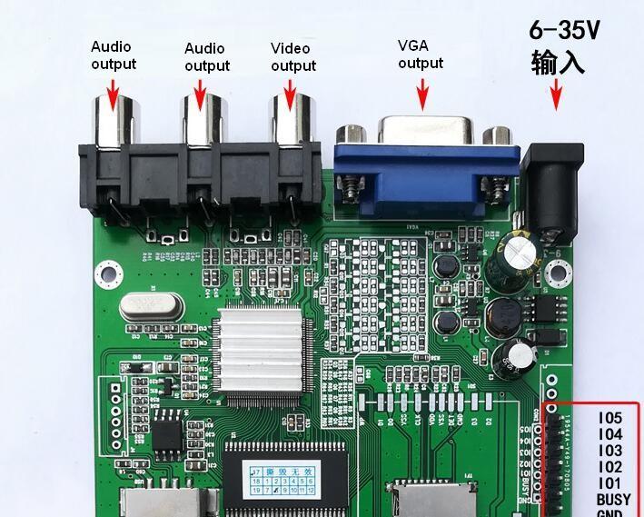 视频解码板单片机IO或5按键一对一指定播放输出IO高低电平 5