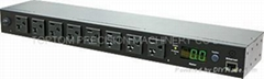 Monitored PDU for Cabinet, 8 Ways 115 V PDU