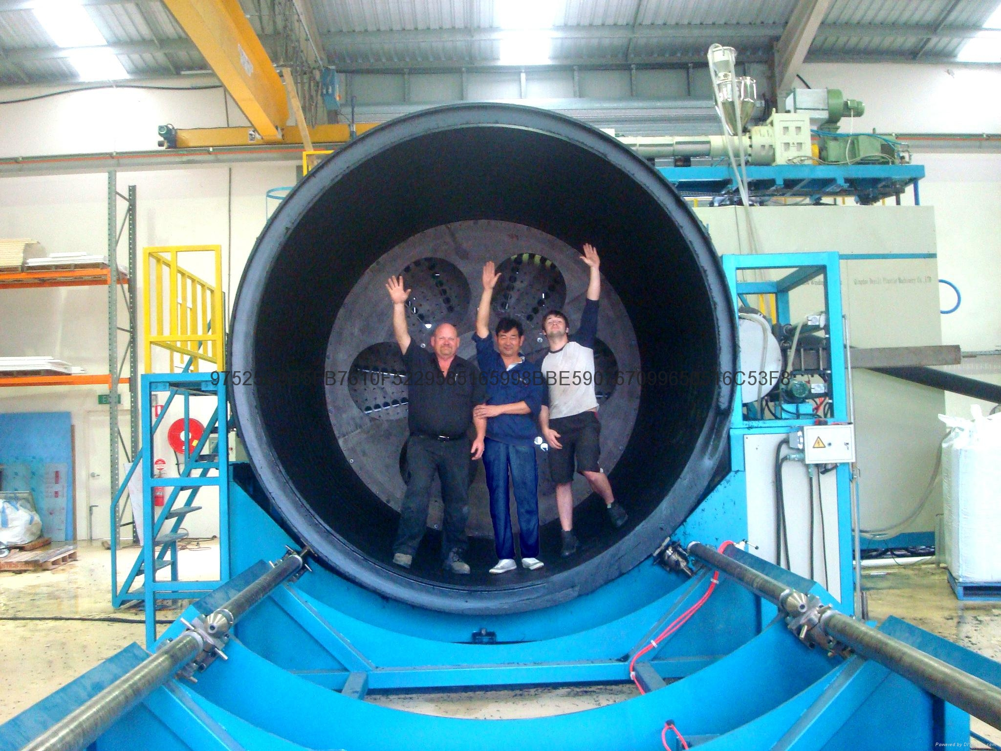 Hdpe large diameter hollow wall winding pipe production