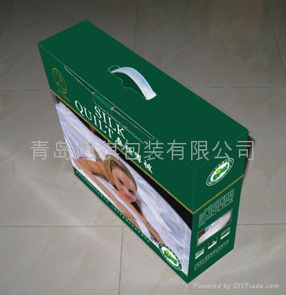 青島床上用品包裝盒印刷加工裱糊 4