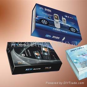 青島手機包裝盒印刷加工裱糊 1